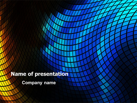 Abstract Mosaic PowerPoint Template, 07674, Abstract/Textures — PoweredTemplate.com