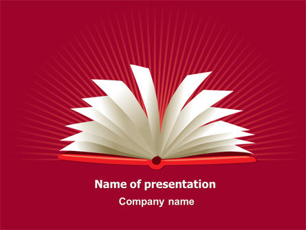 Open Book At The Table PowerPoint Template, 07675, Education & Training — PoweredTemplate.com