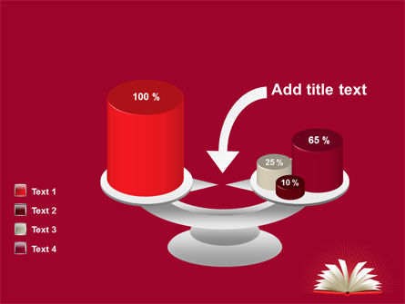 Open Book At The Table PowerPoint Template Slide 10