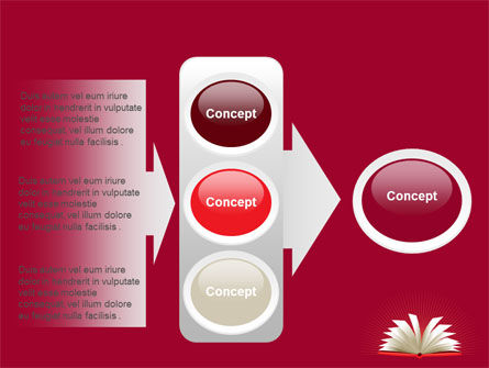 Open Book At The Table PowerPoint Template Slide 11