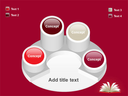 Open Book At The Table PowerPoint Template Slide 12