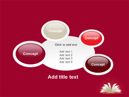 Open Book At The Table PowerPoint Template Slide 16
