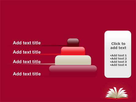 Open Book At The Table PowerPoint Template Slide 8