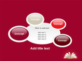 Open Book At The Table PowerPoint Template#16