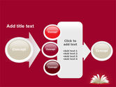 Open Book At The Table PowerPoint Template#17
