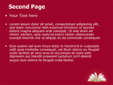 Open Book At The Table PowerPoint Template#2