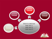 Open Book At The Table PowerPoint Template#7