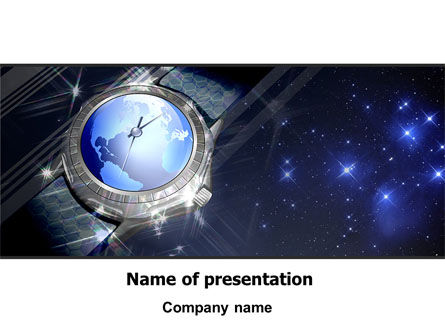Global Watch PowerPoint Template, 07676, Business — PoweredTemplate.com