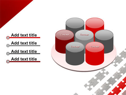 Red Jigsaw Theme PowerPoint Template Slide 12
