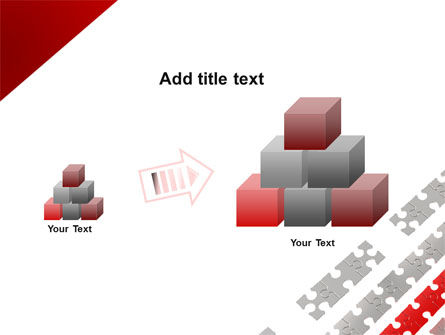 Red Jigsaw Theme PowerPoint Template Slide 13