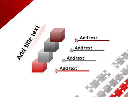 Red Jigsaw Theme PowerPoint Template Slide 14
