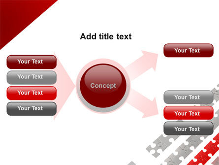 Red Jigsaw Theme PowerPoint Template Slide 15