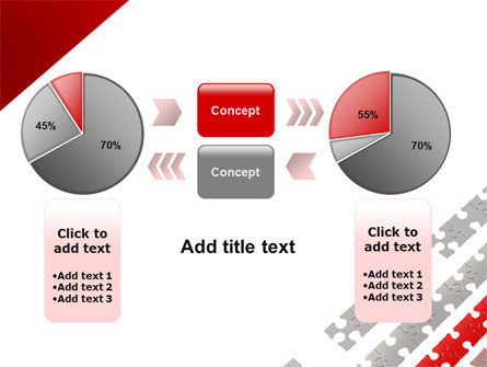 Red Jigsaw Theme PowerPoint Template Slide 16