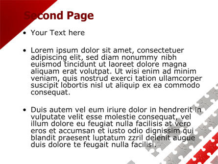 Red Jigsaw Theme PowerPoint Template, Slide 2, 07677, Consulting — PoweredTemplate.com