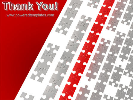 Red Jigsaw Theme PowerPoint Template Slide 20