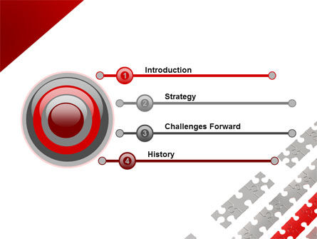Red Jigsaw Theme PowerPoint Template, Slide 3, 07677, Consulting — PoweredTemplate.com