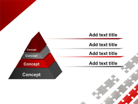 Red Jigsaw Theme PowerPoint Template, Slide 4, 07677, Consulting — PoweredTemplate.com