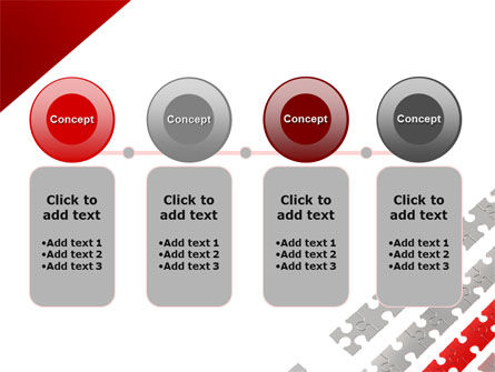Red Jigsaw Theme PowerPoint Template Slide 5