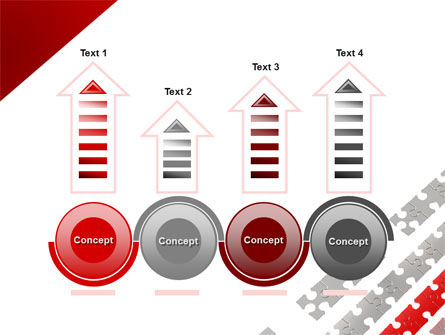 Red Jigsaw Theme PowerPoint Template Slide 7