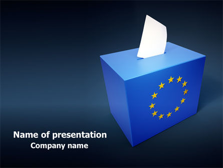 Politics and Government: European Union Elections Free PowerPoint Template #07679