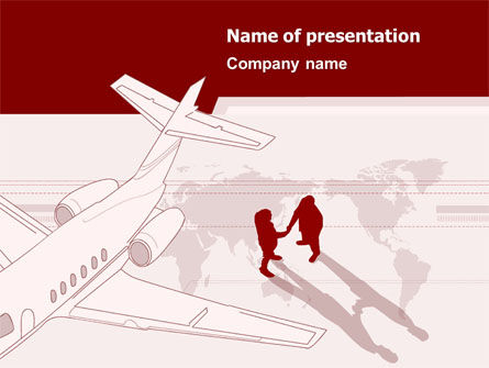 Business Class Air Travel PowerPoint Template