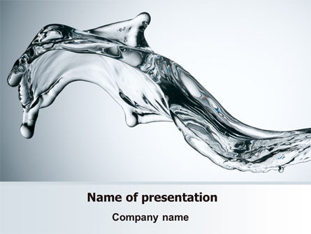 Business Concepts: Fluid Splash PowerPoint Template #07682