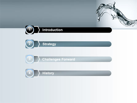 Fluid Splash PowerPoint Template Slide 3