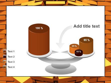 Broken Golden Wall PowerPoint Template Slide 10