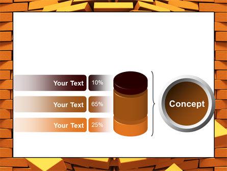 Broken Golden Wall PowerPoint Template Slide 11
