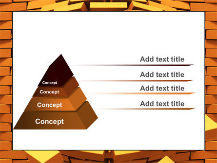 Broken Golden Wall PowerPoint Template Slide 12