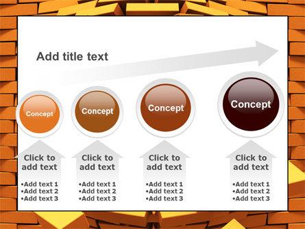 Broken Golden Wall PowerPoint Template Slide 13