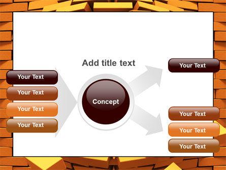 Broken Golden Wall PowerPoint Template Slide 14