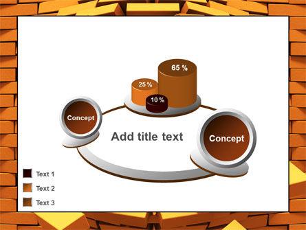 Broken Golden Wall PowerPoint Template Slide 16