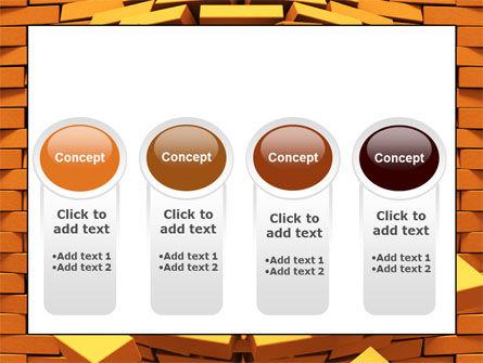 Broken Golden Wall PowerPoint Template Slide 5