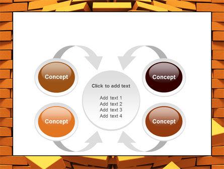Broken Golden Wall PowerPoint Template Slide 6
