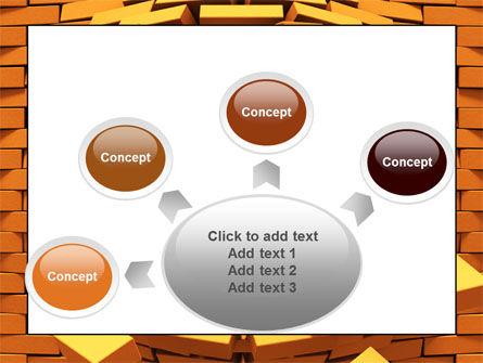 Broken Golden Wall PowerPoint Template Slide 7