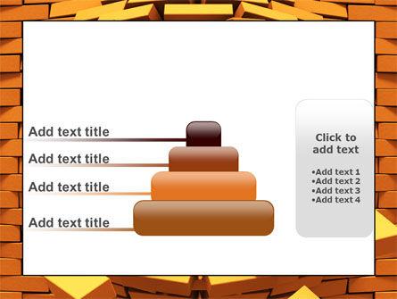 Broken Golden Wall PowerPoint Template Slide 8