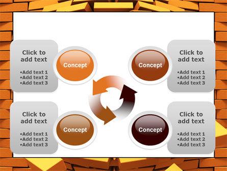 Broken Golden Wall PowerPoint Template Slide 9
