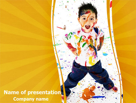 Smeared In Paint PowerPoint Template, 07686, Education & Training — PoweredTemplate.com