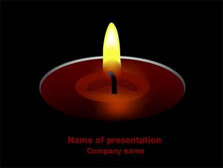 Candle PowerPoint Template, 07687, Religious/Spiritual — PoweredTemplate.com