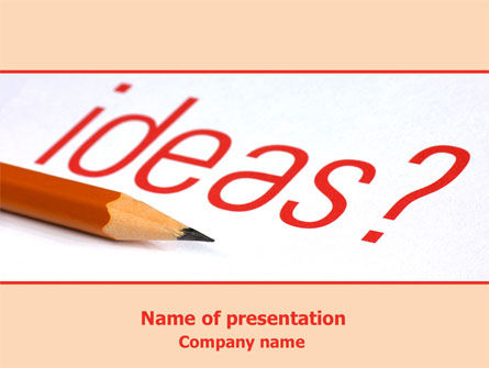 Consulting: Any Ideas PowerPoint Template #07688