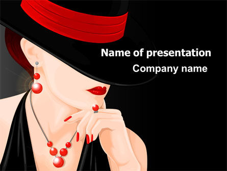 Fashionable Lady PowerPoint Template