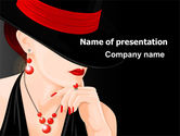 Careers/Industry: Fashionable Lady PowerPoint Template #07693