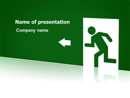 Fire Exit PowerPoint Template, 07695, Consulting — PoweredTemplate.com