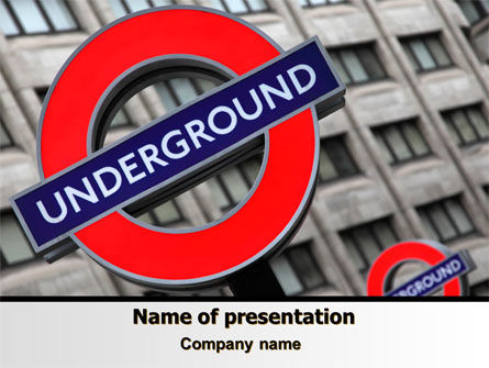 London Subway Free PowerPoint Template, 07696, Flags/International — PoweredTemplate.com
