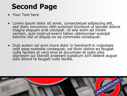 London subway free powerpoint template backgrounds 07696 london subway free powerpoint template slide 2 07696 flagsinternational poweredtemplate toneelgroepblik Image collections