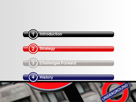 London Subway Free PowerPoint Template, Slide 3, 07696, Flags/International — PoweredTemplate.com