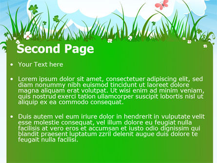 Summer Meadow PowerPoint Template, Slide 2, 07697, Nature & Environment — PoweredTemplate.com
