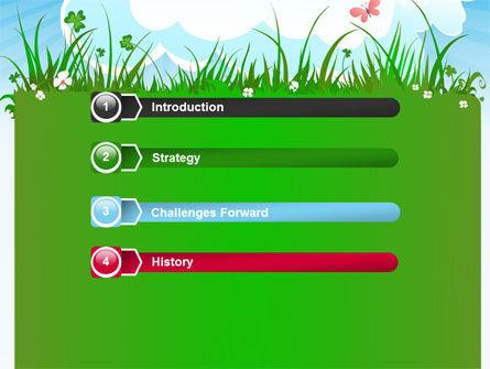 Summer Meadow PowerPoint Template, Slide 3, 07697, Nature & Environment — PoweredTemplate.com