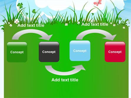 Summer Meadow PowerPoint Template, Slide 4, 07697, Nature & Environment — PoweredTemplate.com